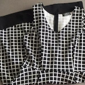 Papermoon black white dress EUC